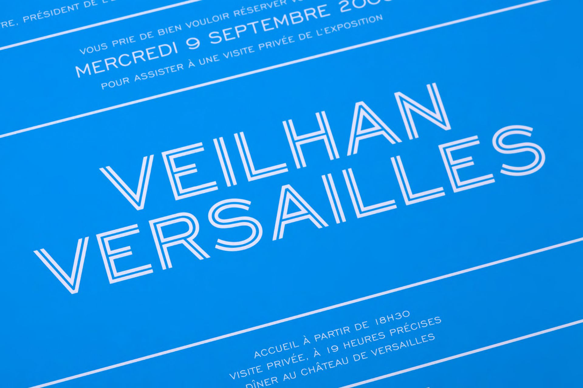 Veilhan Versailles identity & signage