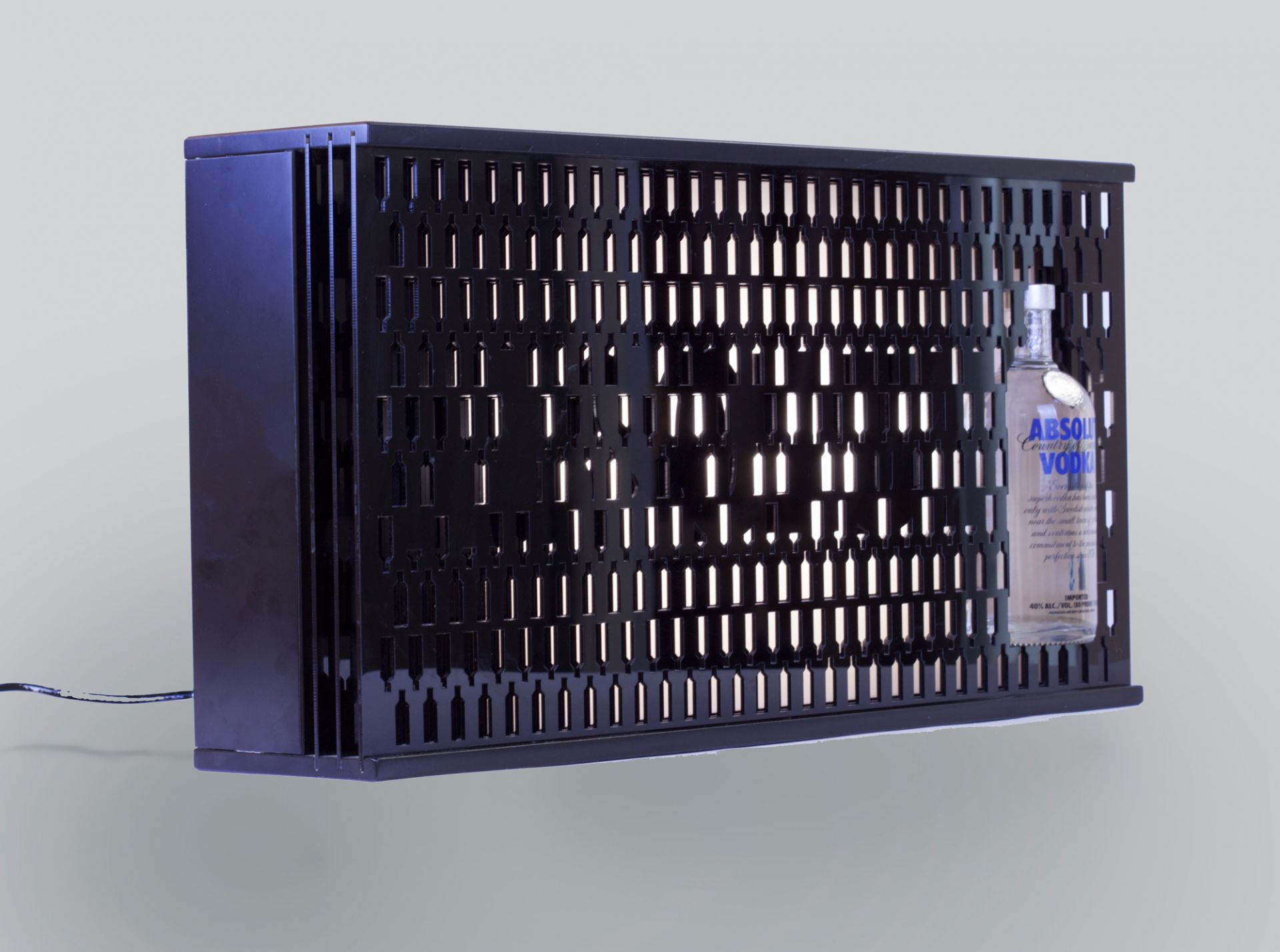 ABSOLUT VODKA Club display case